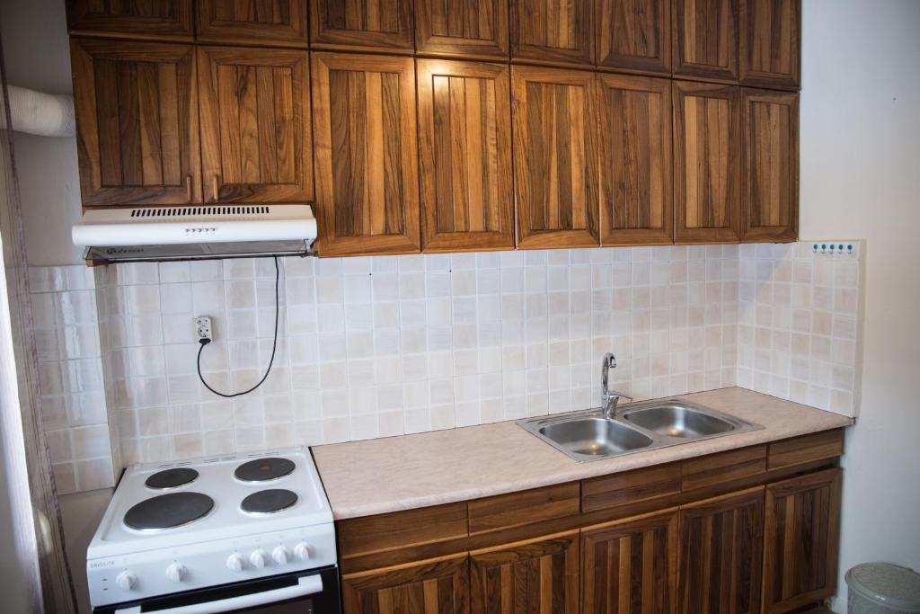 A kitchen or kitchenette at Nasos Apartment