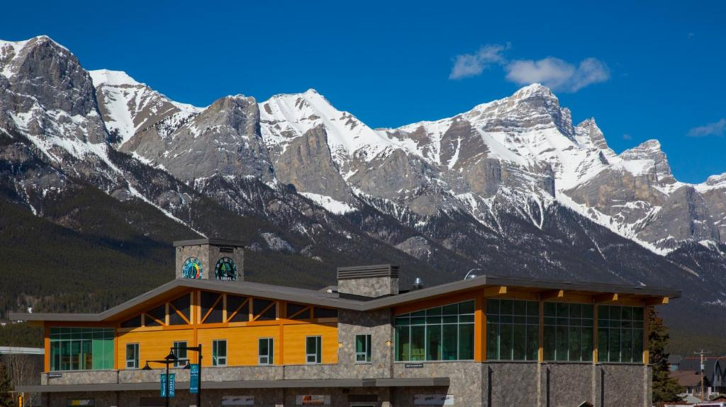 Canmore Downtown Hostel during the winter