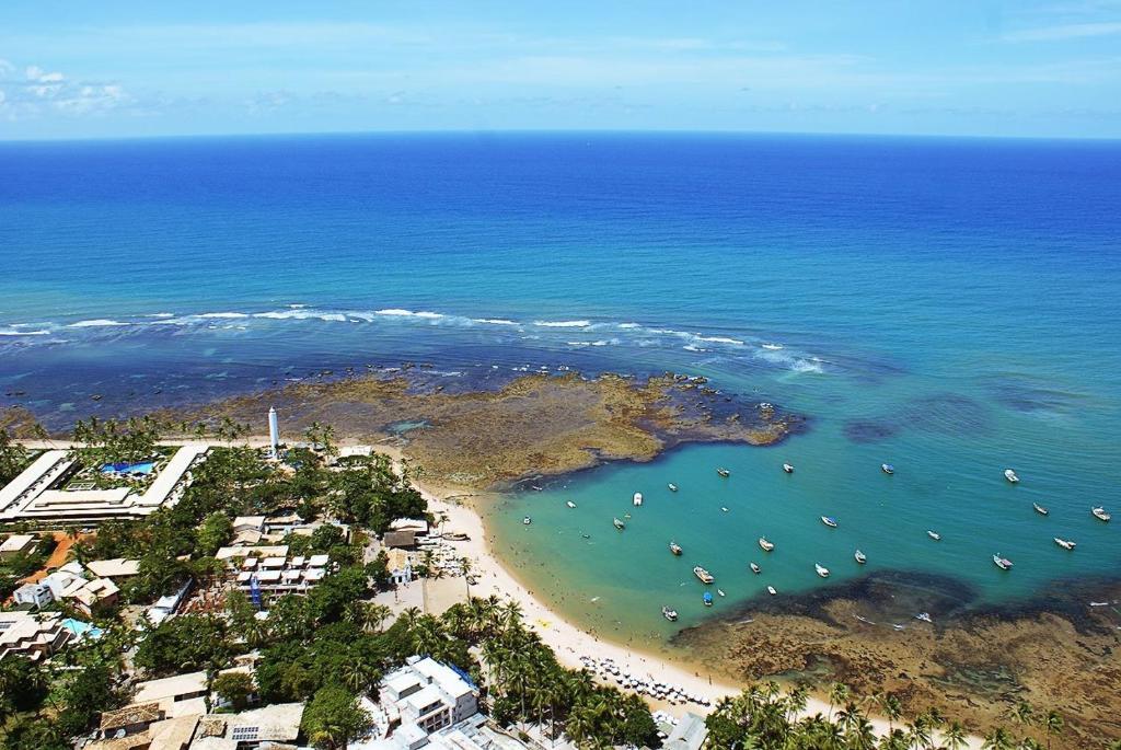 A bird's-eye view of Praia do Forte Suites