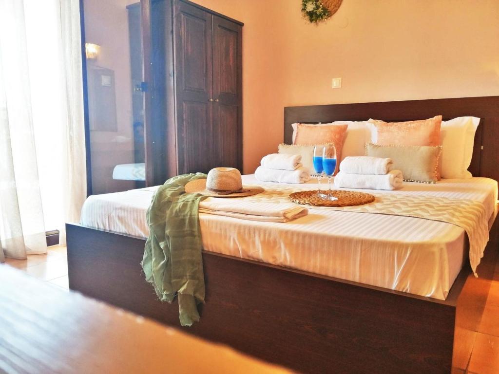 Ένα ή περισσότερα κρεβάτια σε δωμάτιο στο Pension Anastasia