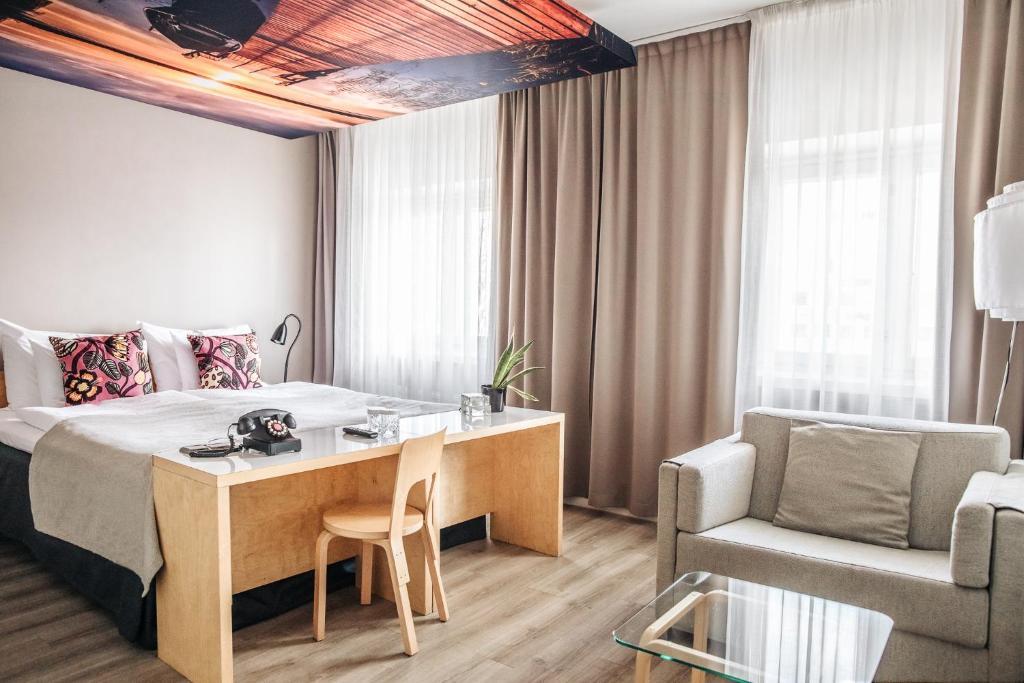 Oleskelutila majoituspaikassa Hotel Helka