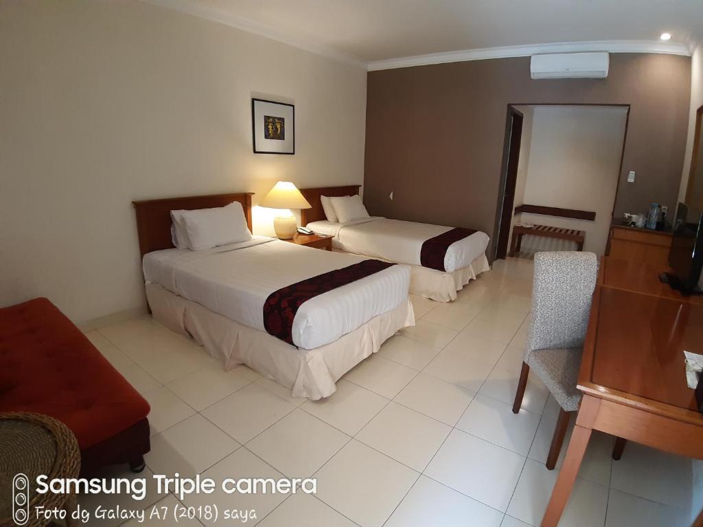 Cama o camas de una habitación en Ijen View Hotel Resort & Restaurant