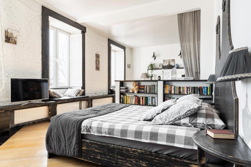 Кровать или кровати в номере Bellevue Residence