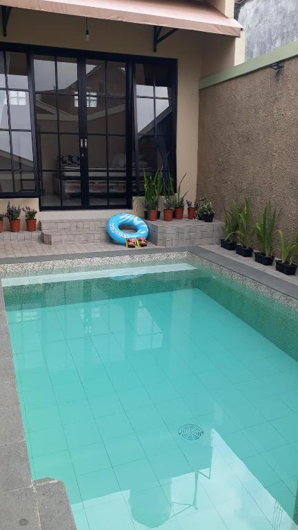 The swimming pool at or close to Omah Wilis