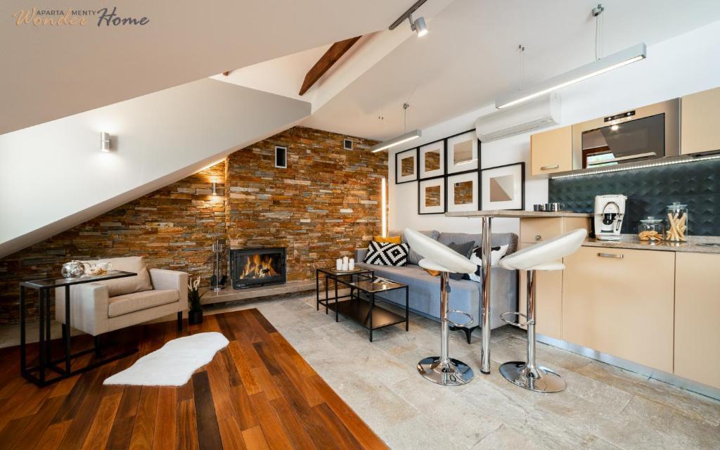 Część wypoczynkowa w obiekcie Apartamenty Wonder Home - przy Zacisznej