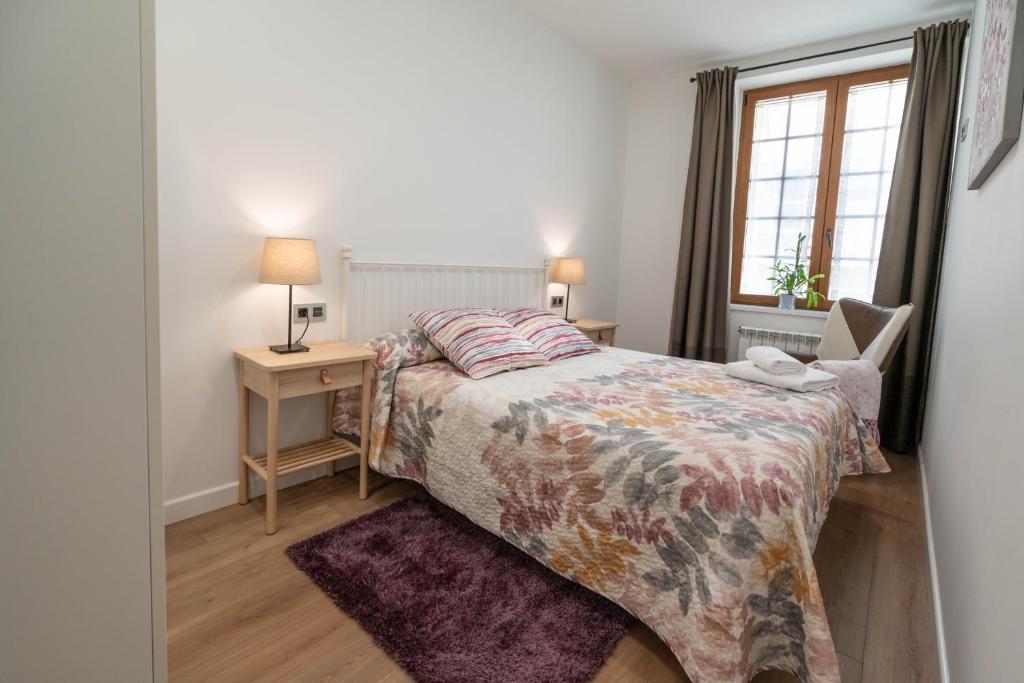 Cama o camas de una habitación en La Casa de Loli