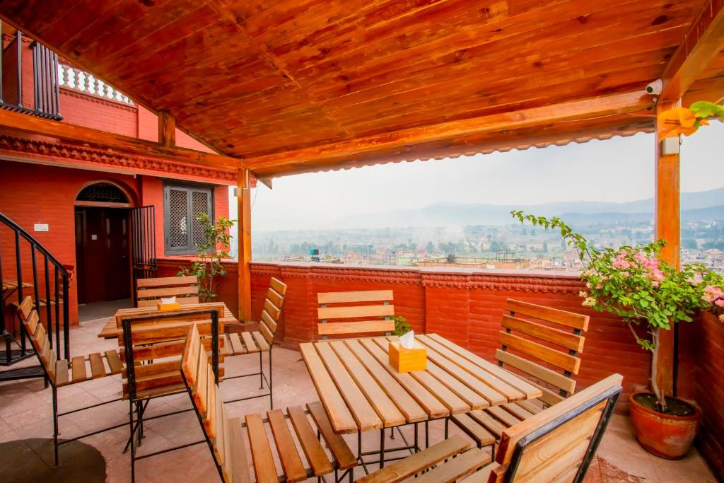 A balcony or terrace at Welcome Heritage Inn