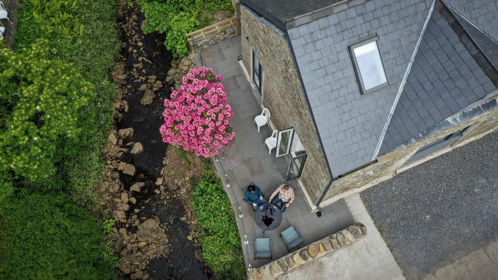 A bird's-eye view of Swansea Valley Holiday Cottages