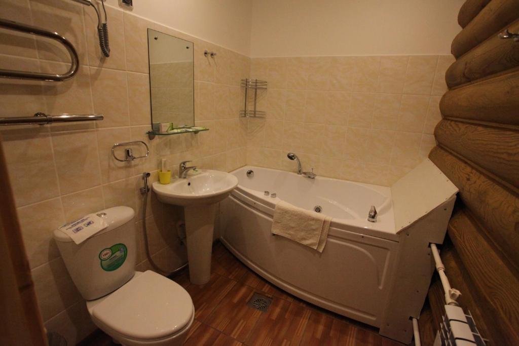 Ванная комната в Арт-Эко-Отель Алтай
