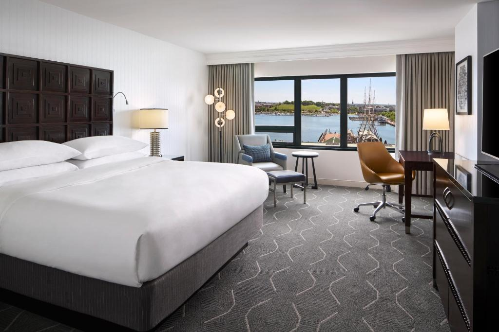 A room at the Renaissance Baltimore Harborplace Hotel.