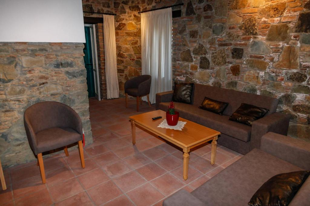 A seating area at Farmakas Living