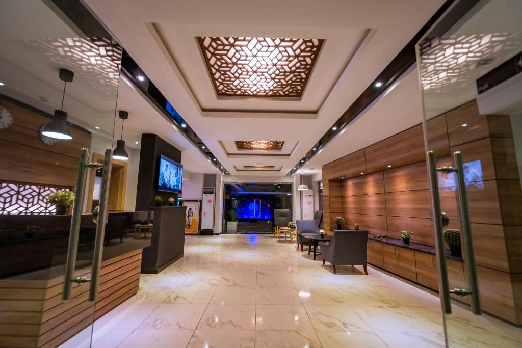 The lobby or reception area at The Edge by Wellness