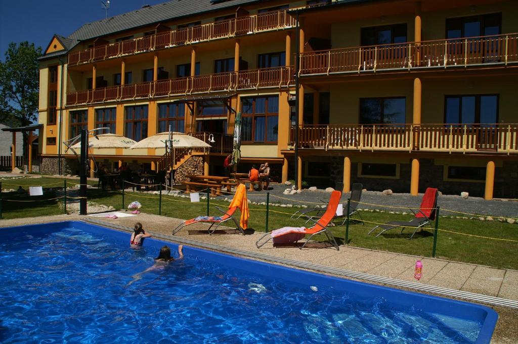 The swimming pool at or near Hotel Avalanche