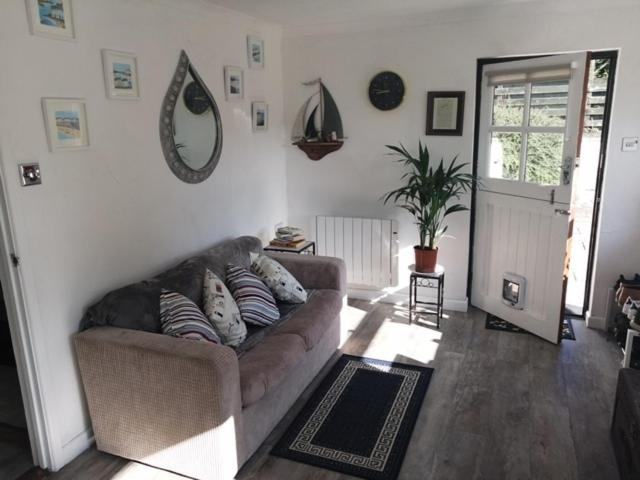 A seating area at Knobbly Nook, whole property, gardens, parking, wifi, relaxing near Eden Project and coast