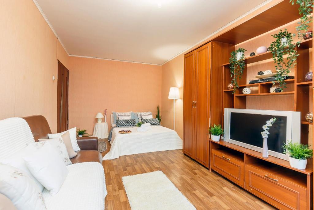 Телевизор и/или развлекательный центр в Apartments Orehovyi Bulvar