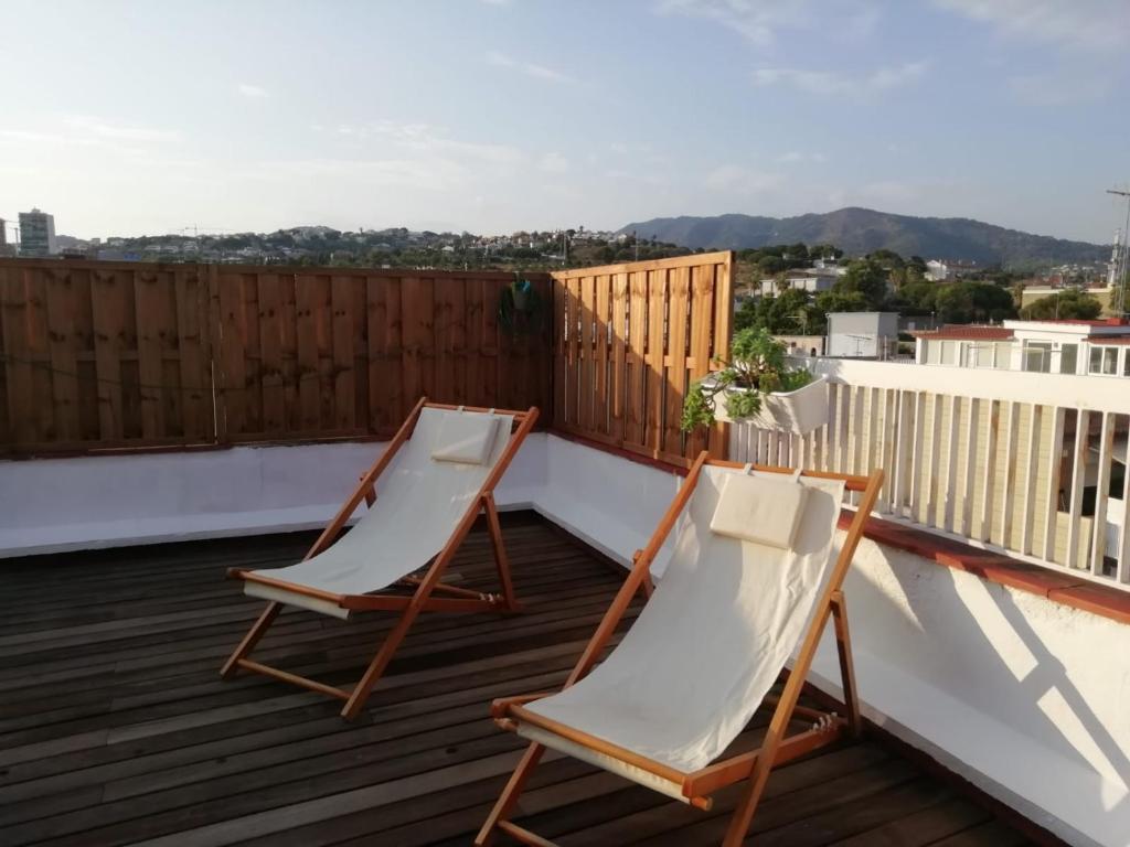 A balcony or terrace at Ático Mediterráneo, el Masnou (Barcelona)
