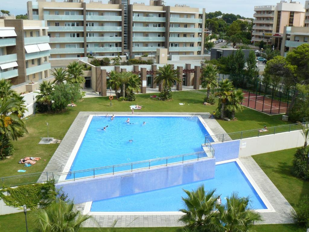 Uitzicht op het zwembad bij Ibersol Spa Aqquaria of in de buurt