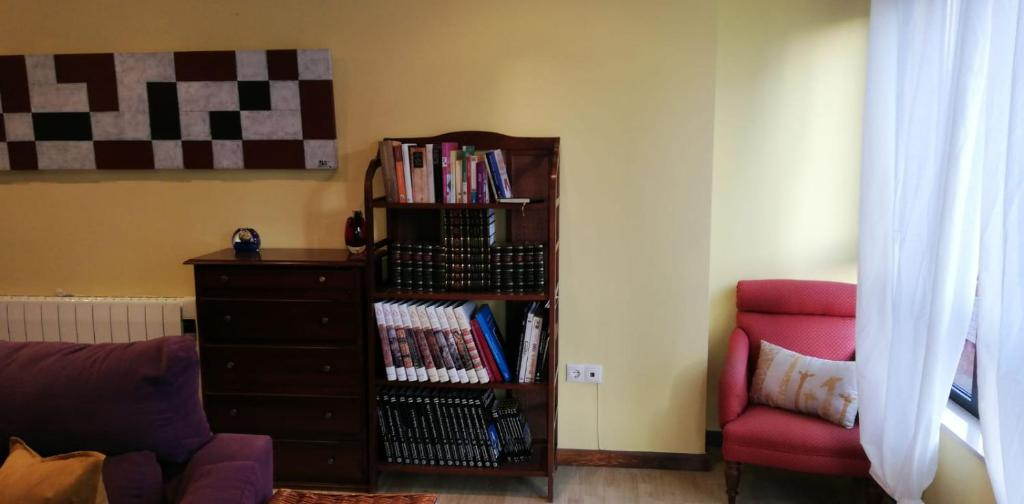 A seating area at Apartamento Alcazar