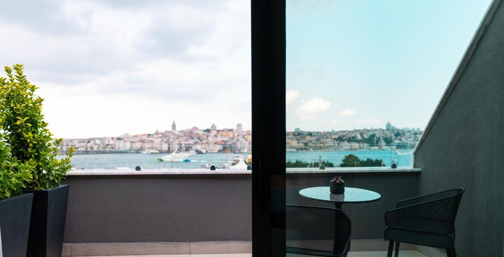 A balcony or terrace at MEG HOTEL