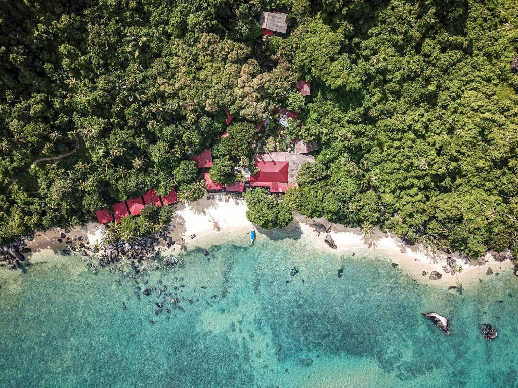 Blick auf Melina Beach Resort aus der Vogelperspektive