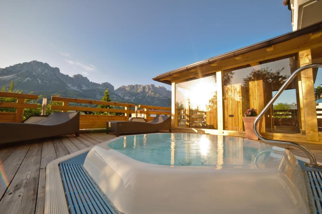 The swimming pool at or near Hotel Hochfilzer