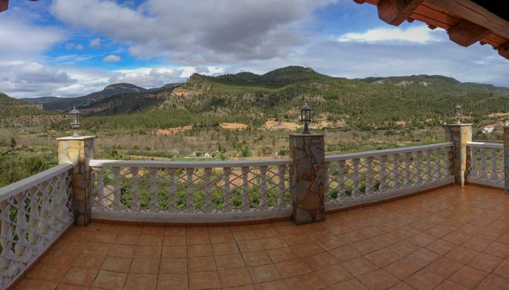 A balcony or terrace at Casa rural Rosaire