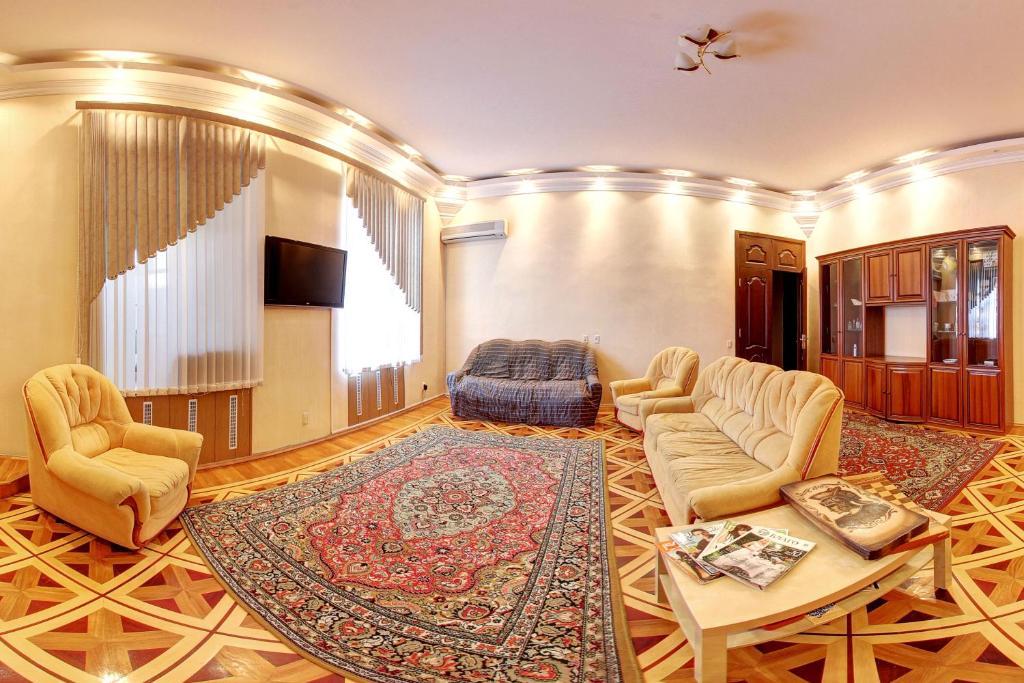 Гостиная зона в Teremok Hostel