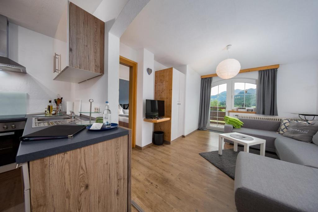 Küche/Küchenzeile in der Unterkunft Alpinplus