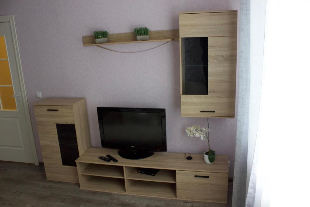 A television and/or entertainment center at Pae 52 Апартаменты