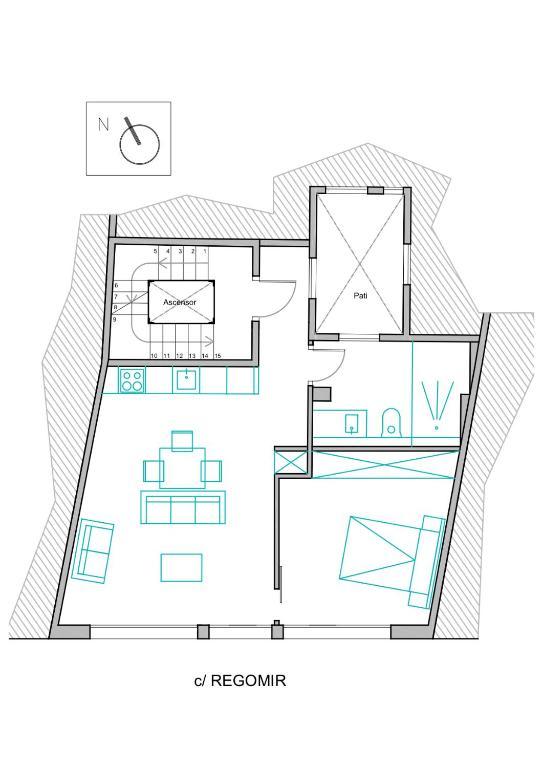 AinB Las Ramblas Colón Apartments - Laterooms