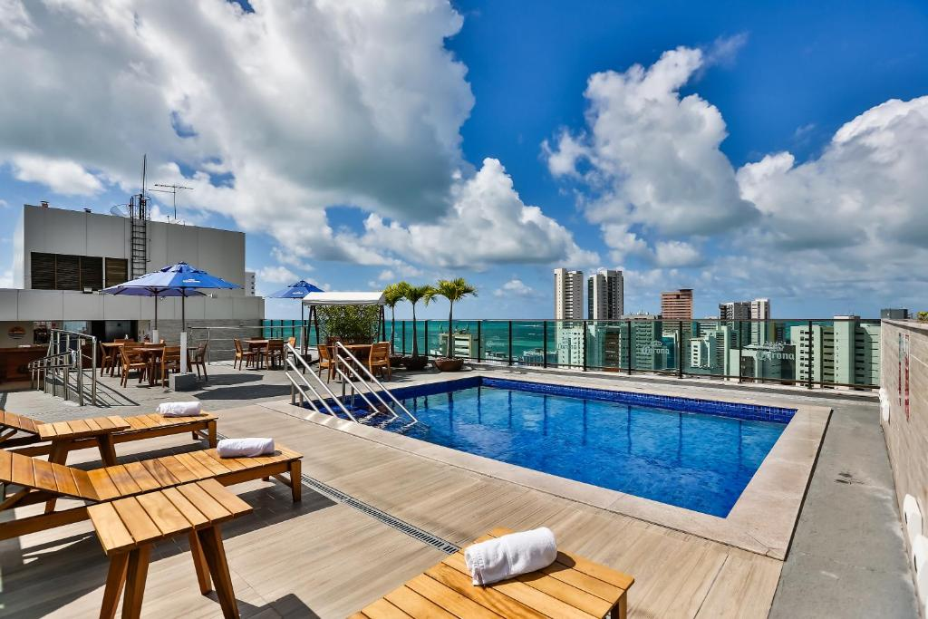 The swimming pool at or close to Ramada by Wyndham Recife Boa Viagem