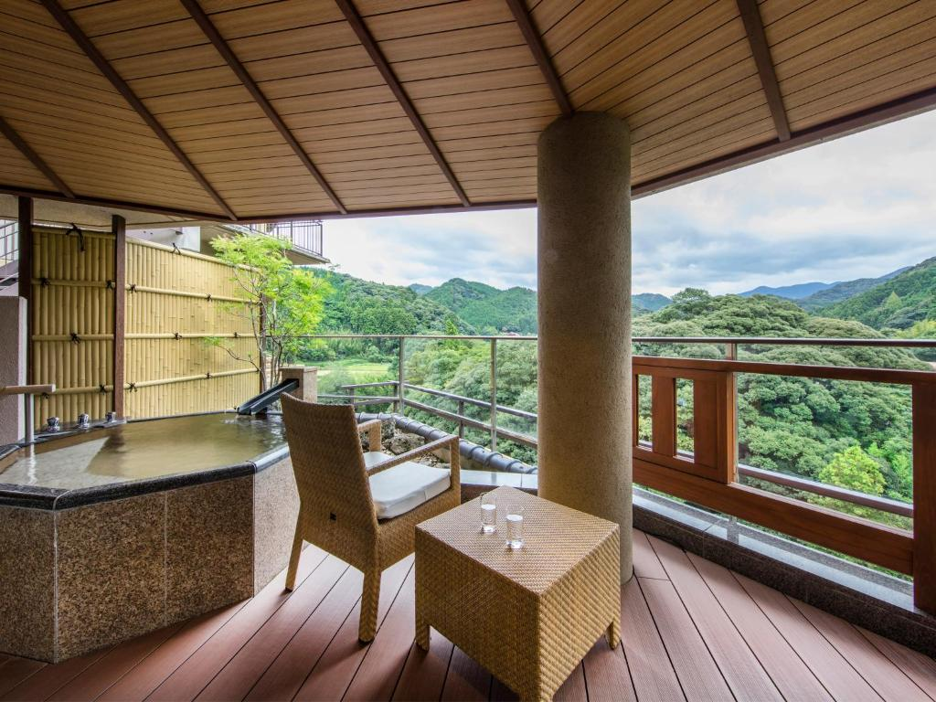 A balcony or terrace at Otani Sanso