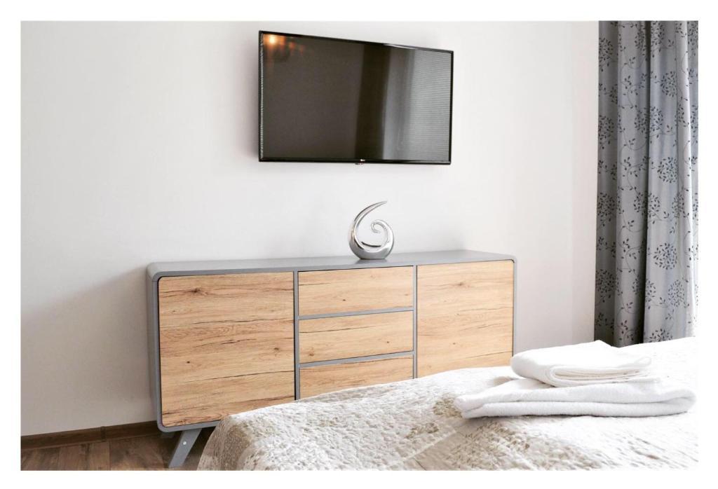 Televízia a/alebo spoločenská miestnosť v ubytovaní SGL apartments Lavickova