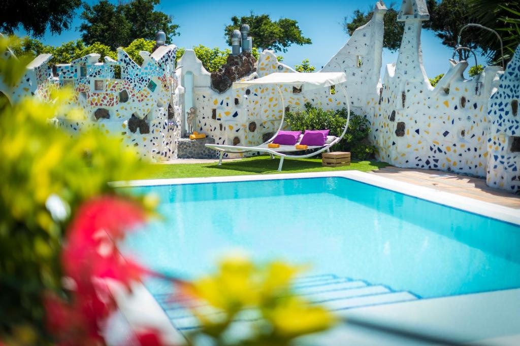 The swimming pool at or near Los Moxaicos Tenerife