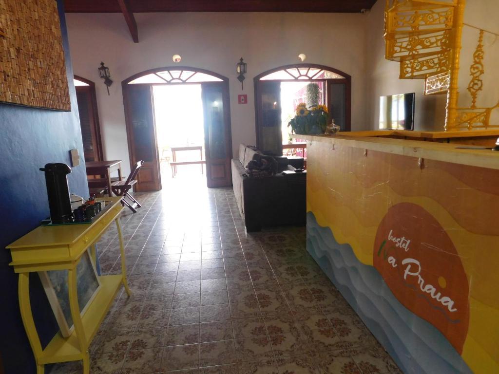 O saguão ou recepção de Hostel Na Praia - Hospedagens e eventos