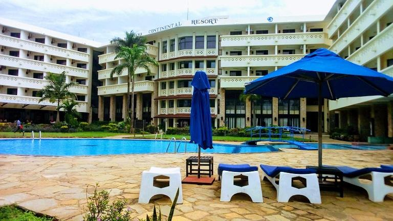 The swimming pool at or close to Mombasa Continental Resort