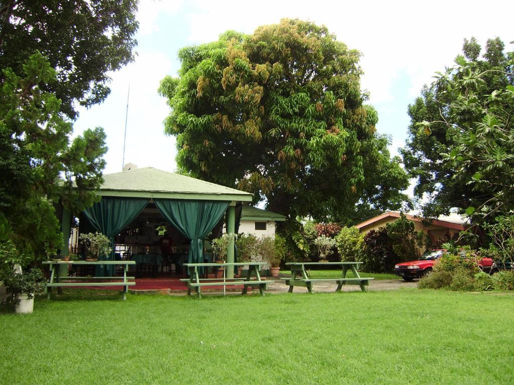 A garden outside Angler Apartments