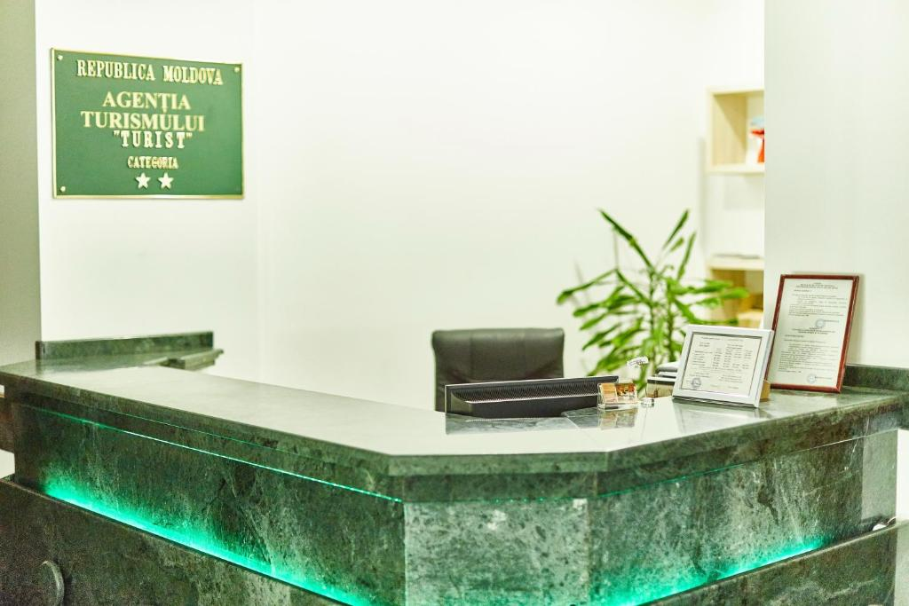The lobby or reception area at Hotel Turist