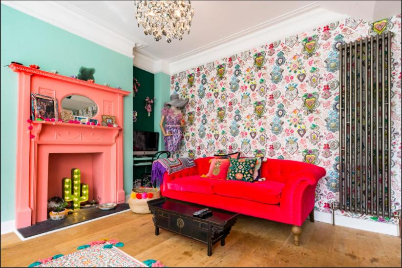 A seating area at Fashionably Fabulous Designer Apartment Luxe with Private Roof Terrace 24h Transport Zone 2 Greater London