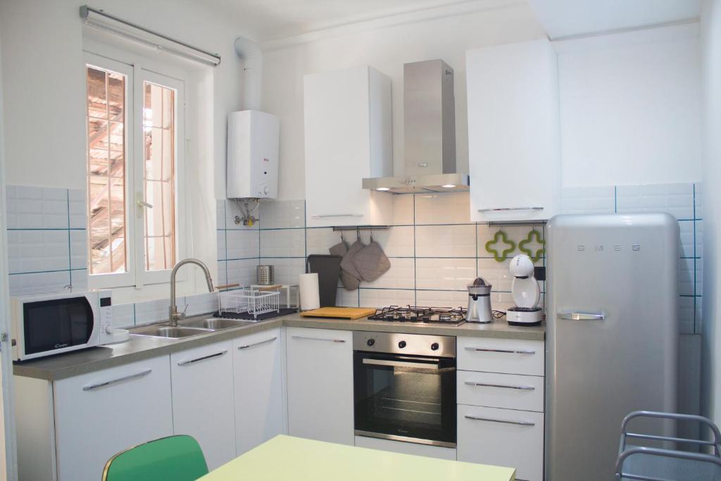 Cucina o angolo cottura di Appartamento in antica cascina