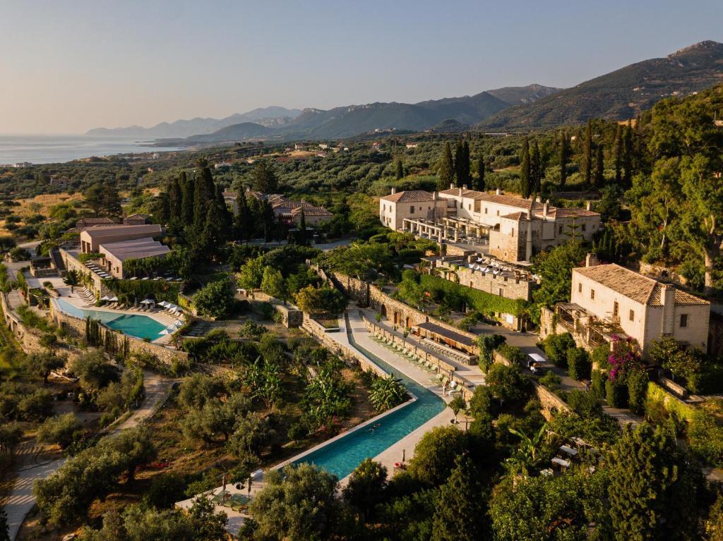 Blick auf Kinsterna Hotel aus der Vogelperspektive