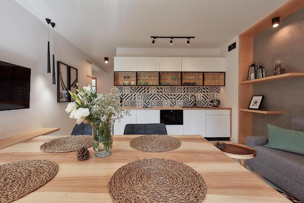 Kuchnia lub aneks kuchenny w obiekcie Apartamenty Tatry Garden&Spa