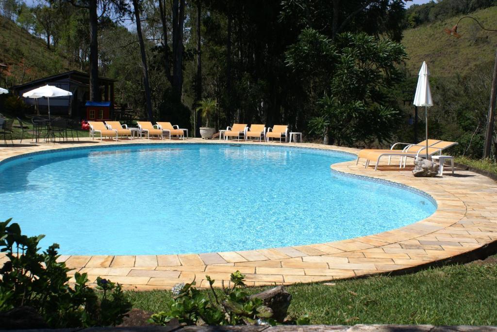 A piscina localizada em Hotel Fazenda São Francisco ou nos arredores