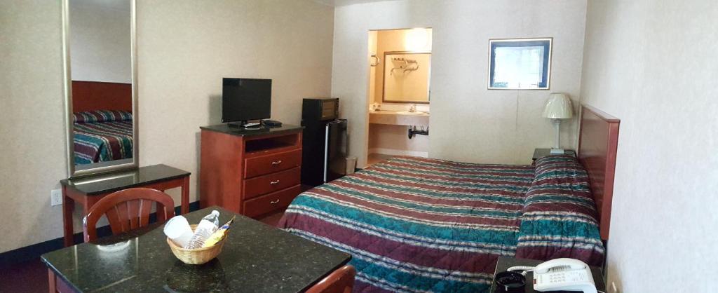 A room at the Atrium Inn & Suites.