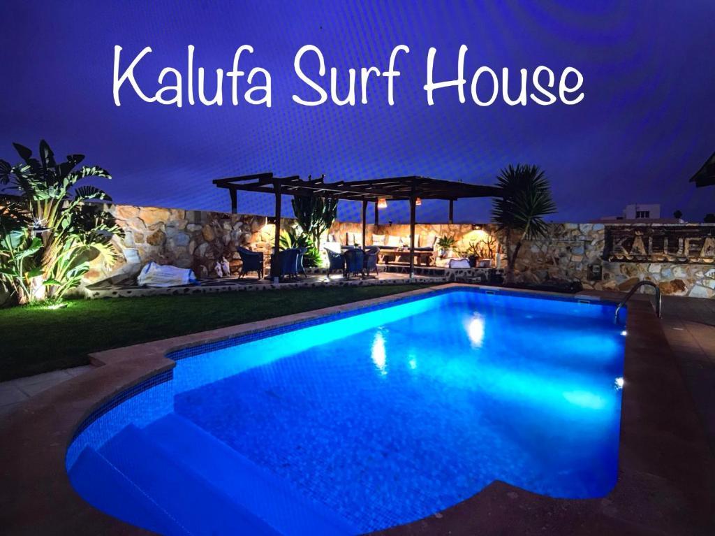 The swimming pool at or near Kalufa Surf House