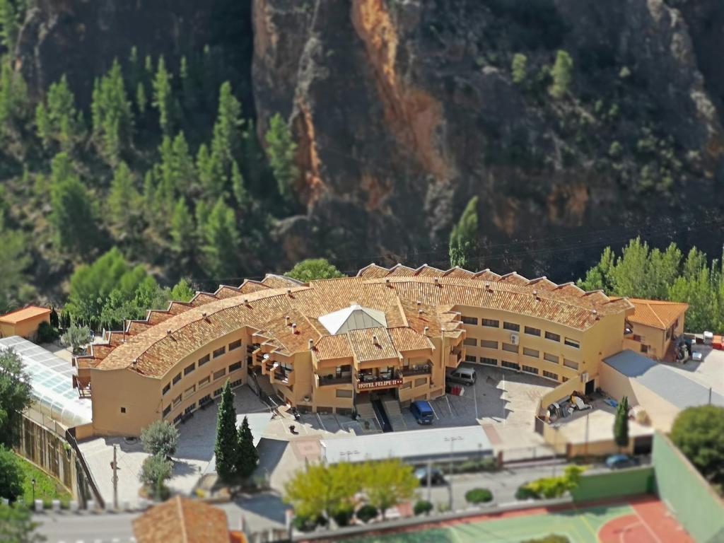 A bird's-eye view of Hotel Felipe II