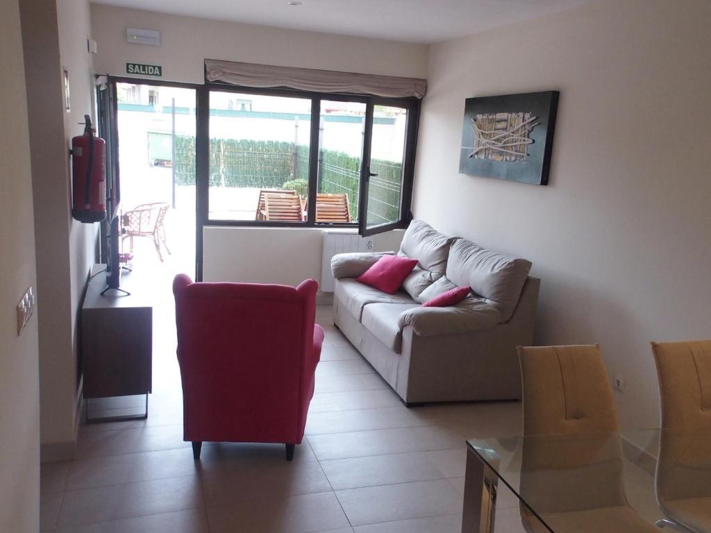 Zona de estar de Apartamentos Borizu Playa