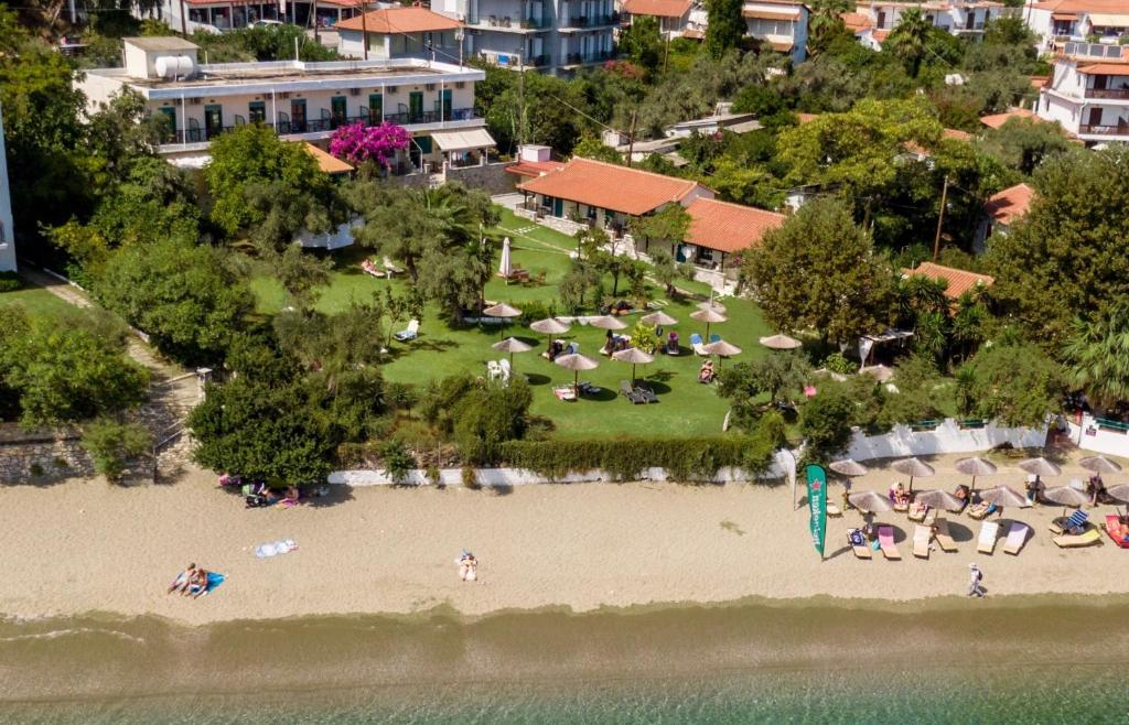 A bird's-eye view of Angeliki Beach Hotel