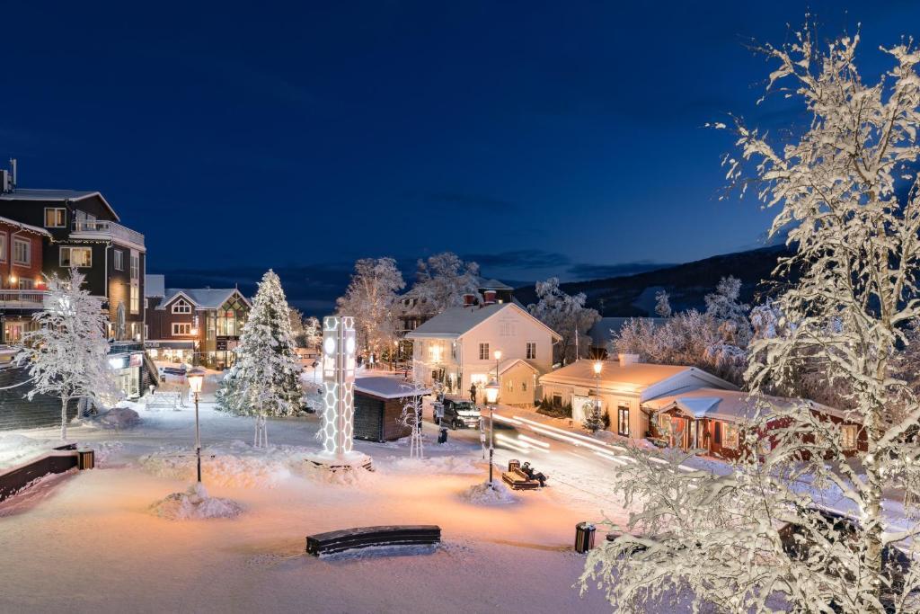 Åre Torg Hotell under vintern