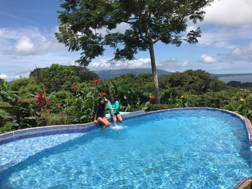 The swimming pool at or near Totoco Eco-lodge